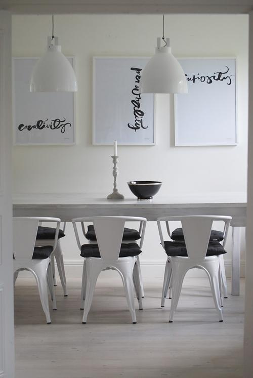 Décoration noir et blanc scandinave minimaliste
