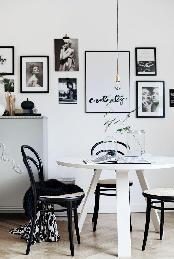 Affiche Creativity noir et blanc