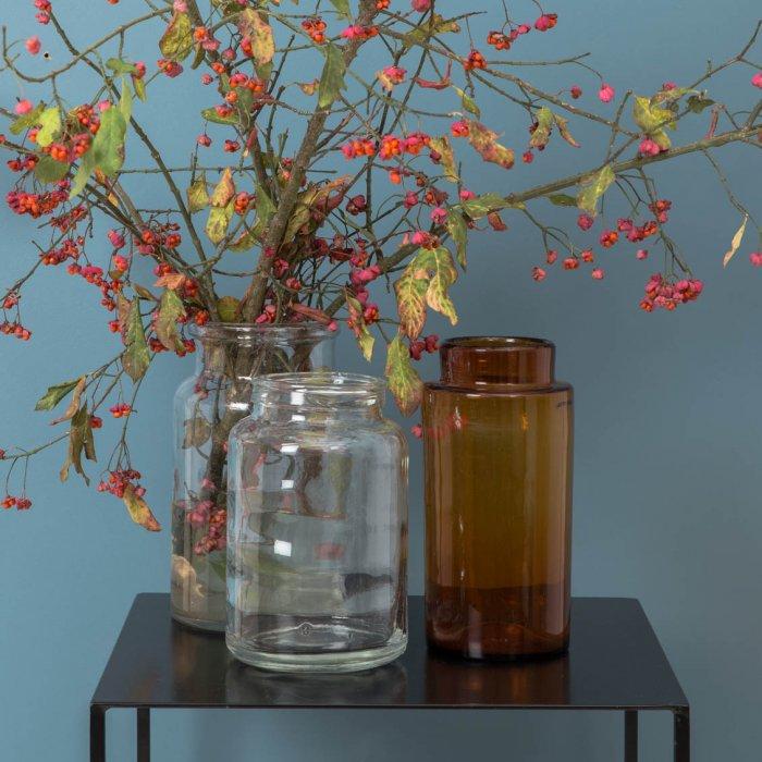 Vases en verre chez Le petit Florilège
