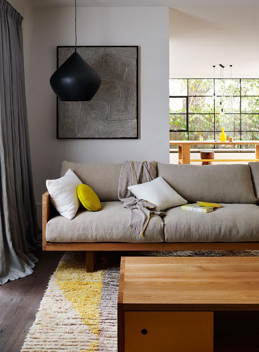 Canapé taupe idée décoration