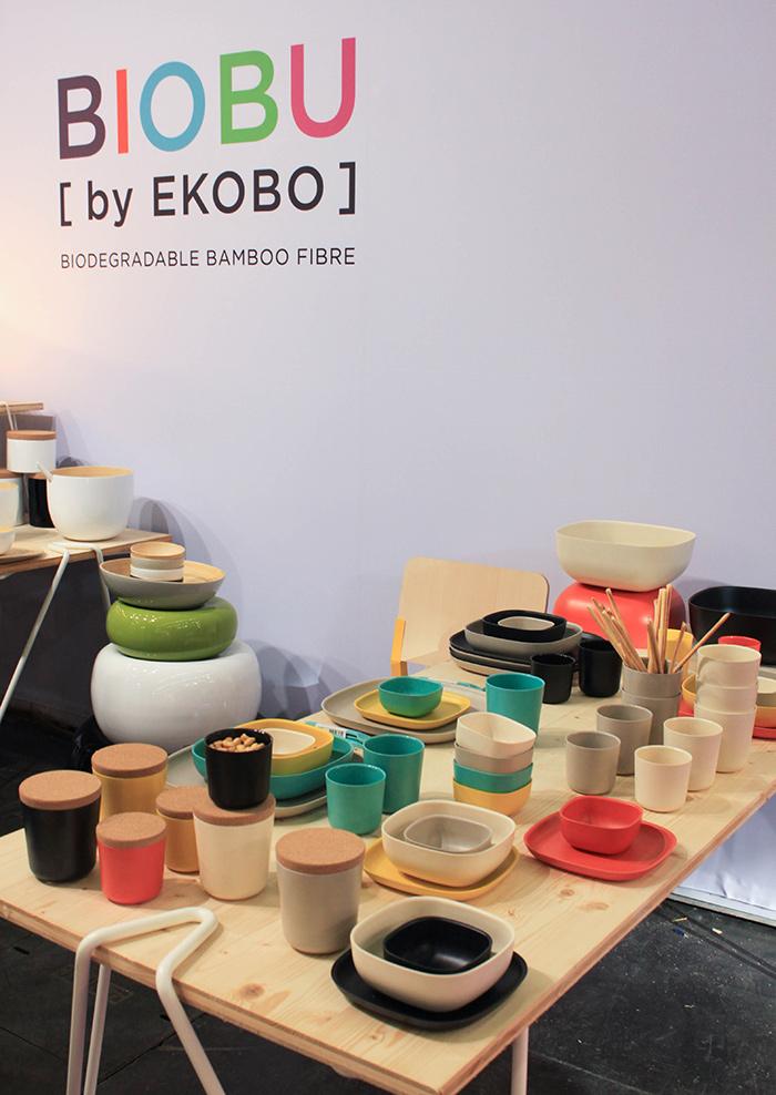 Vaisselle en fibre de bambou