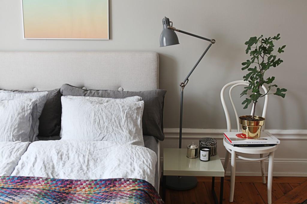 Linge de lit en lin froissé