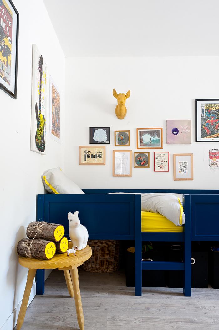 Déco bleu et jaune pour baby boy