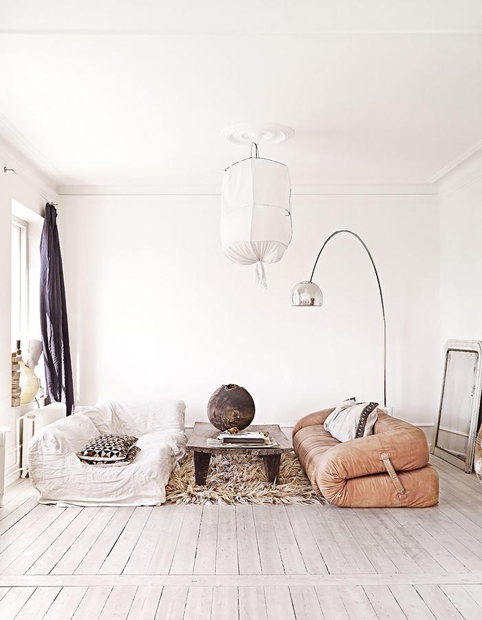 Décoration salon style ethnique et bohème