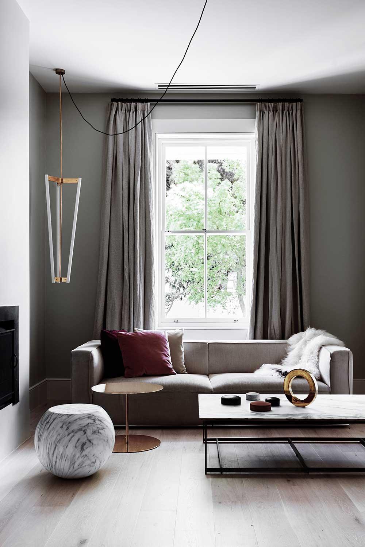 Décoration salon élégant gris