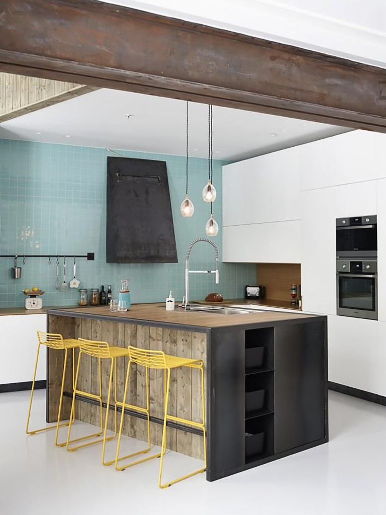 Inspiration un lot central dans la cuisine frenchy fancy - Centraal koken eiland ...
