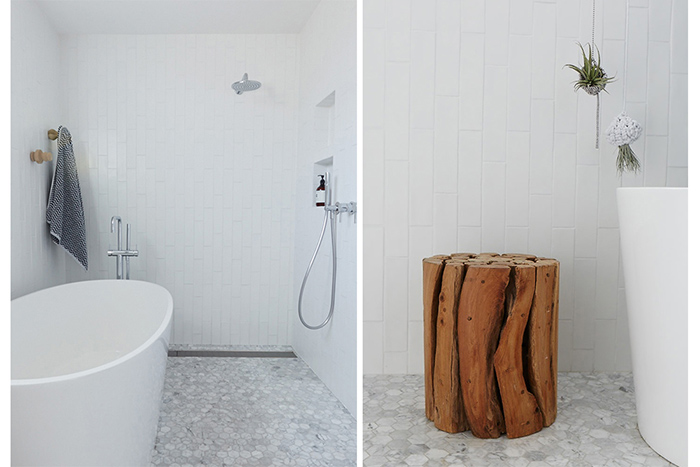 Salle de bain tout en blanc