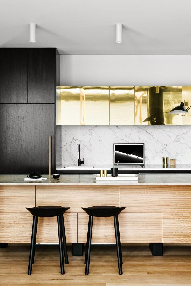 Tendance : du doré dans la cuisine   frenchy fancy