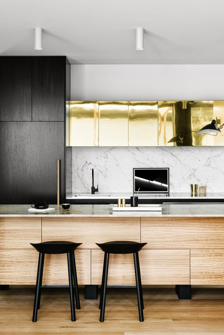 Façade de meuble de cuisine en métal