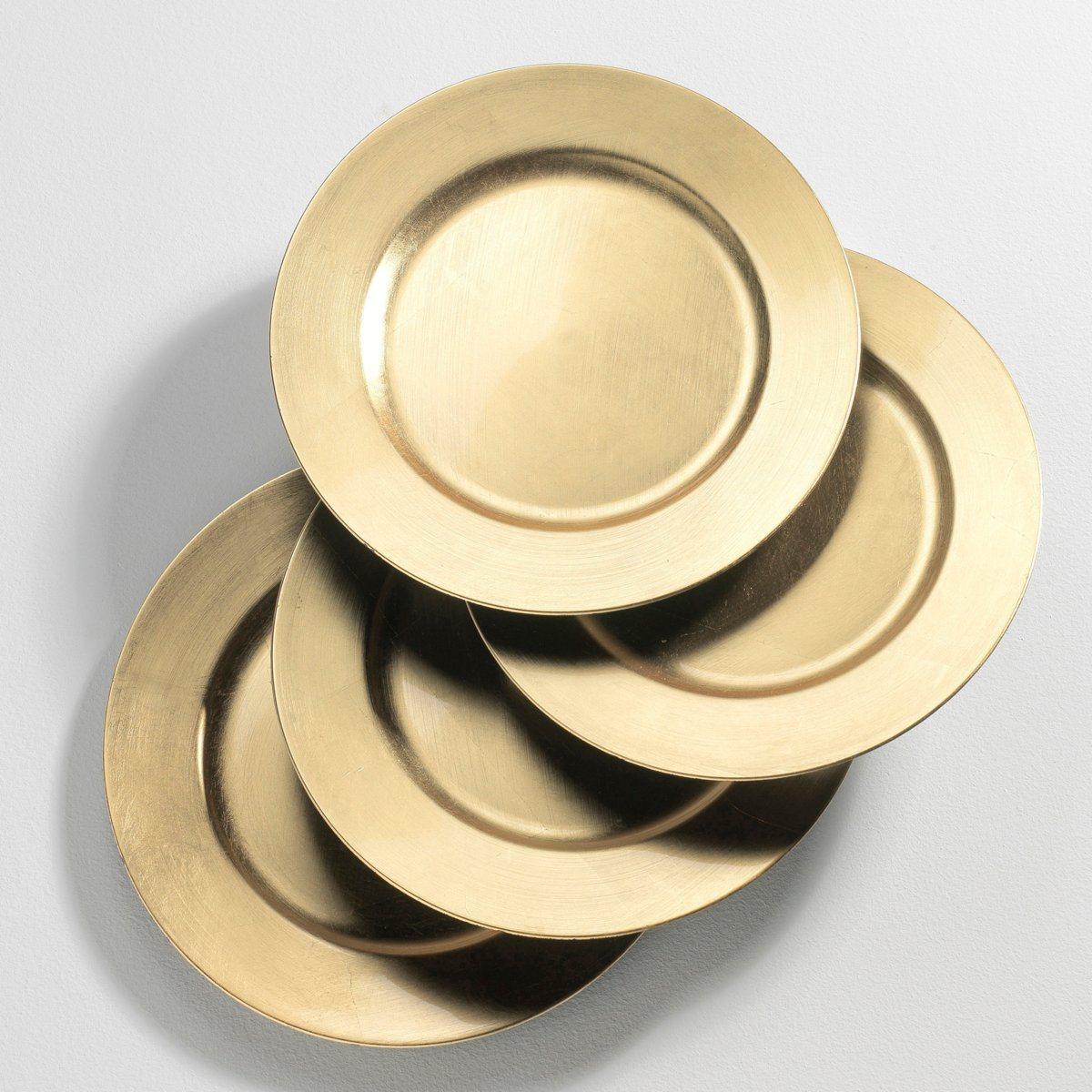 Assiette dorée pour une belle décoration de table