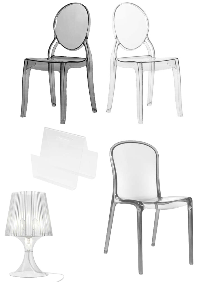Mobilier au design transparent pour intérieurs contemporains