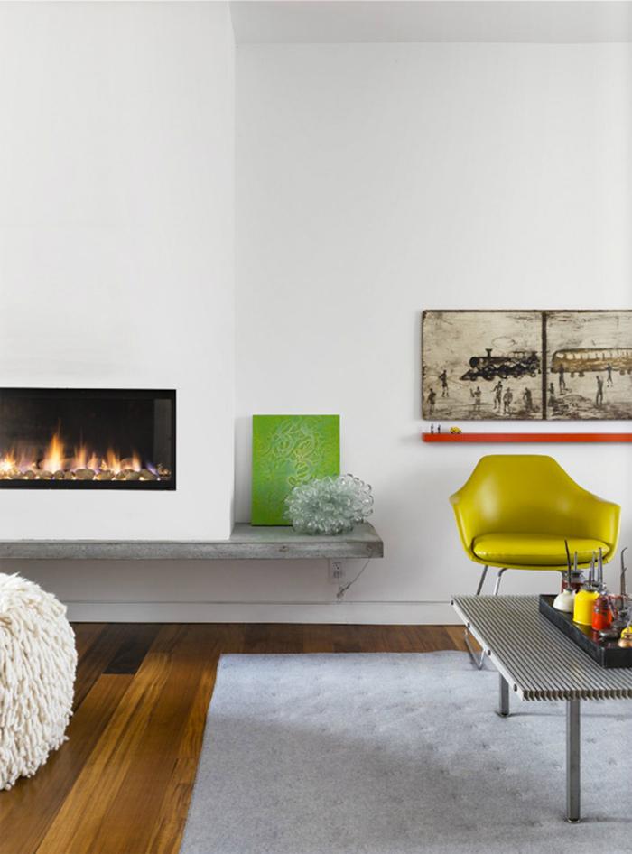 Décoration contemporaine avec des couleurs vives