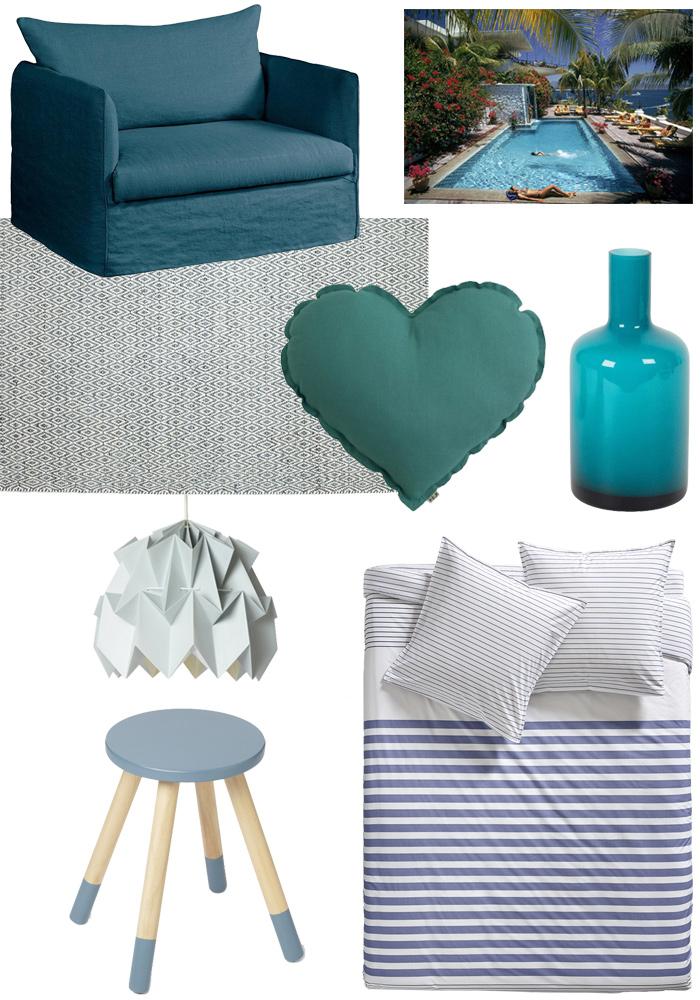 Shopping : je veux du bleu dans ma déco !