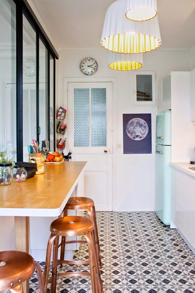 Tendance les carreaux de ciment frenchy fancy - Cuisine carreau de ciment ...