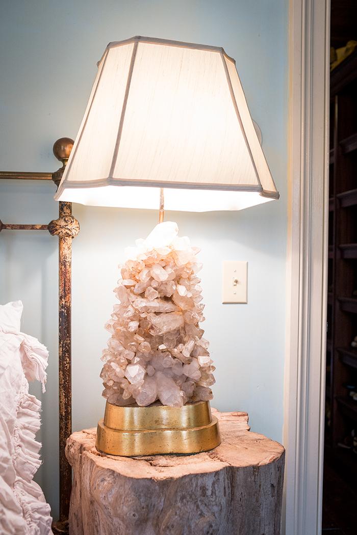 Lampe de chevet en quartz