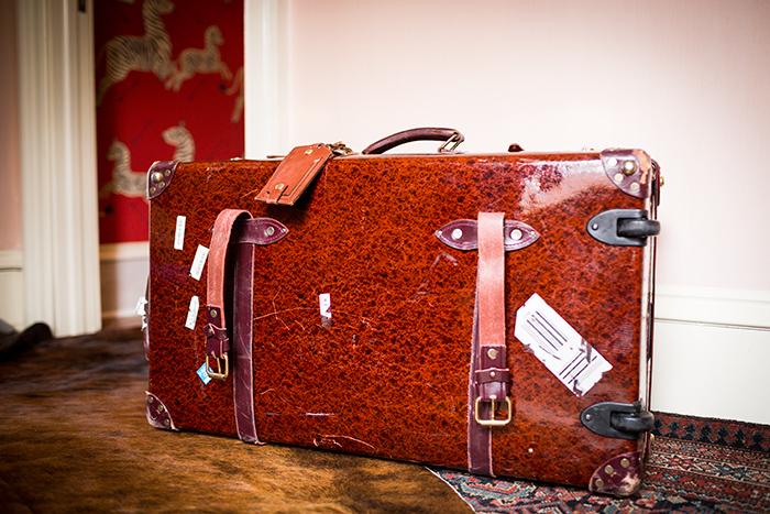 Idée déco valise vintage en cuir