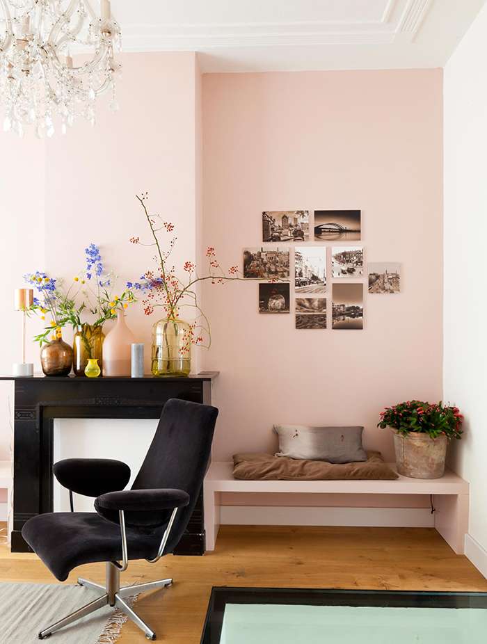 La vie en rose frenchy fancy for Decoration mur interieur salon