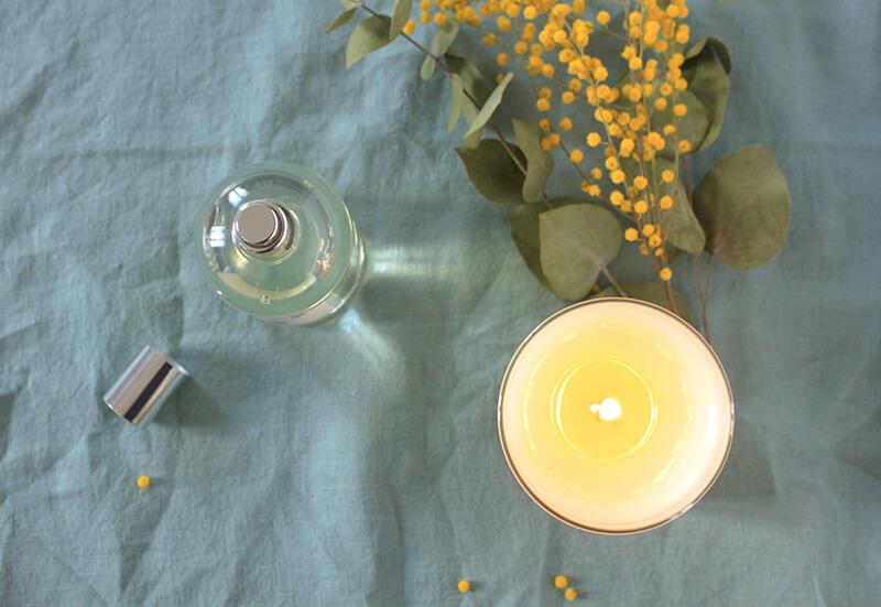 Bougie parfumée en cire végétale et parfum pour Bébé