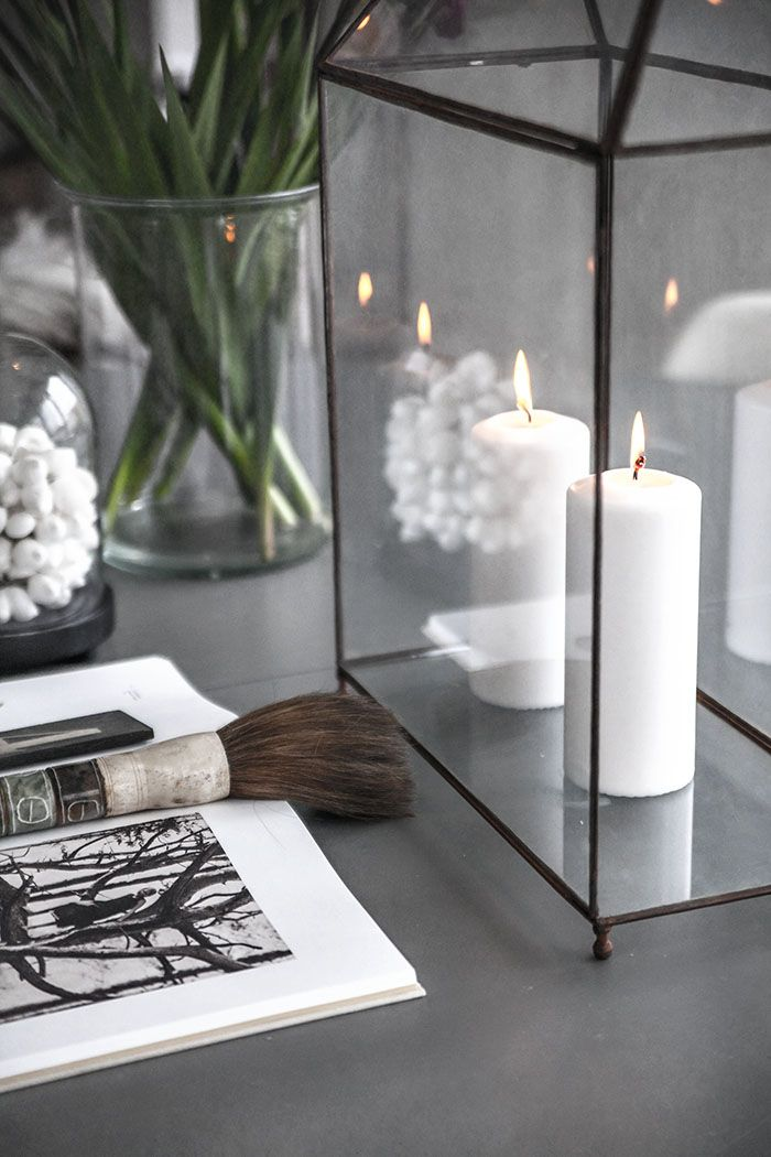 Bougeoir en verre style nordique