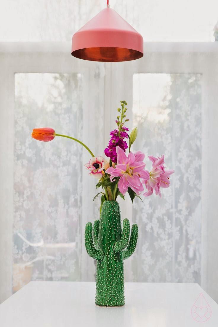 Vase cactus decoration