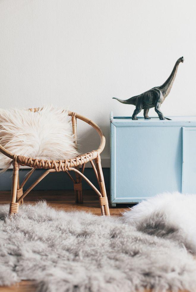 Ambiance cosy dans avec des meubles chinés
