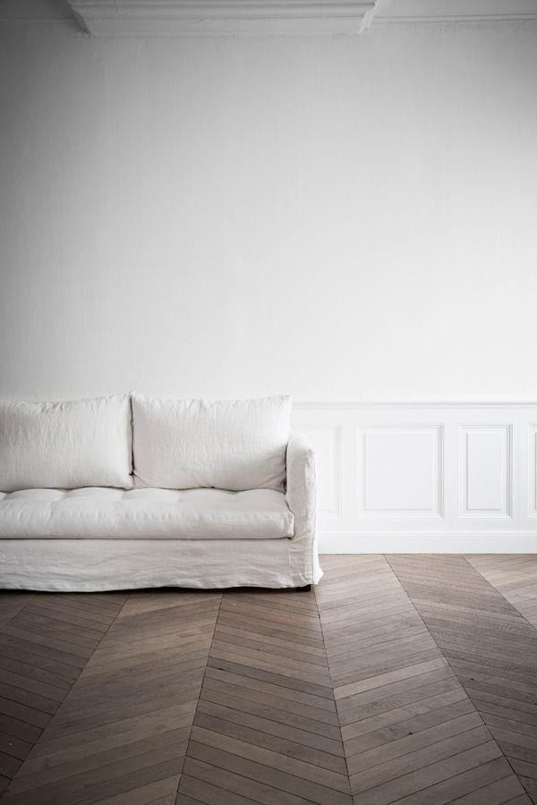 Canapé en lin cosy