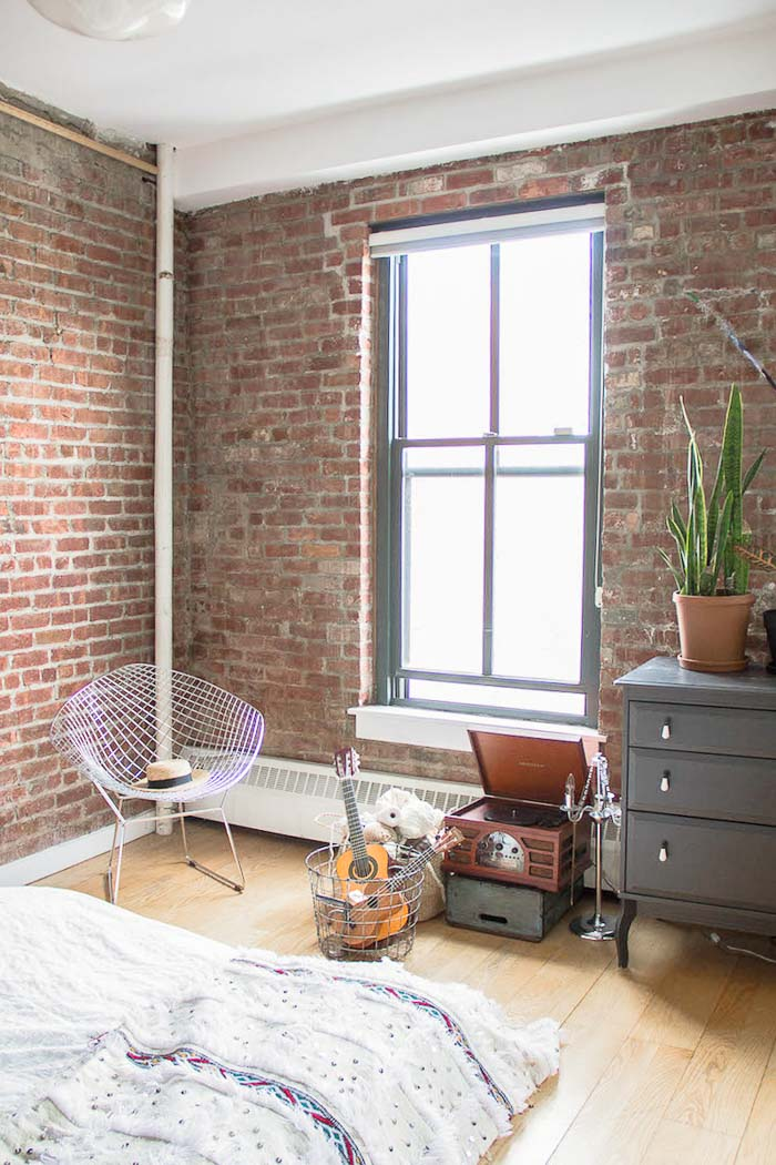 Un loft industriel boh me brooklyn frenchy fancy - Chambre style loft industriel ...