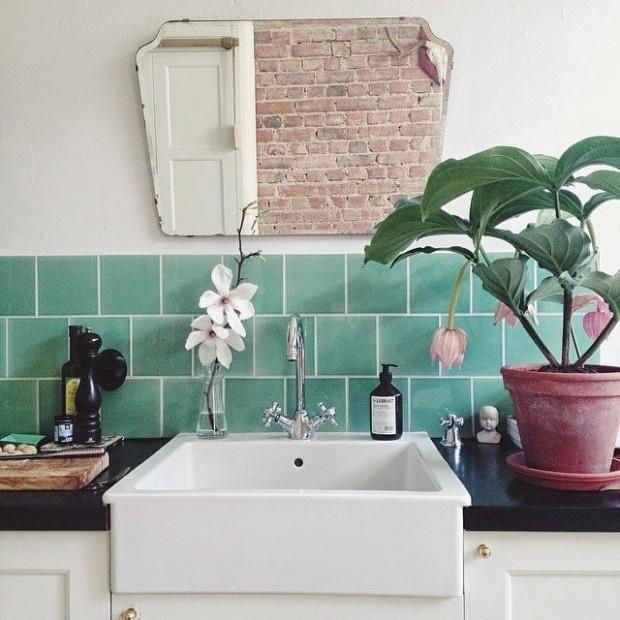Des plantes vertes dans la salle de bain frenchy fancy for Salle de bain moderne verte