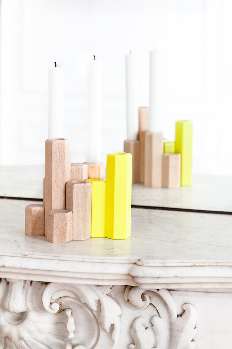 Objet de déco minimaliste en bois