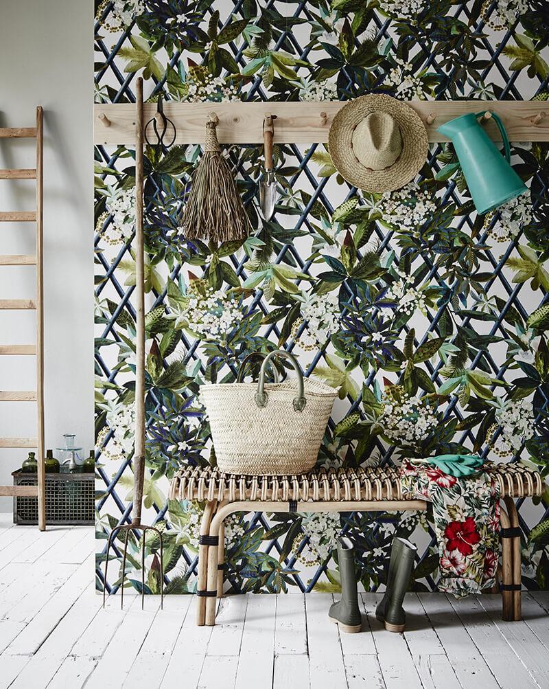 Papier peint motifs végétaux