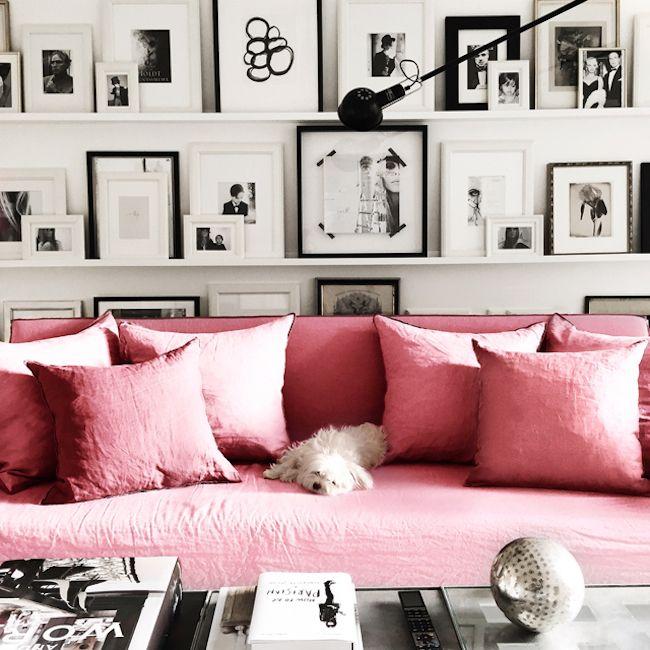 Canapé en lin froissé