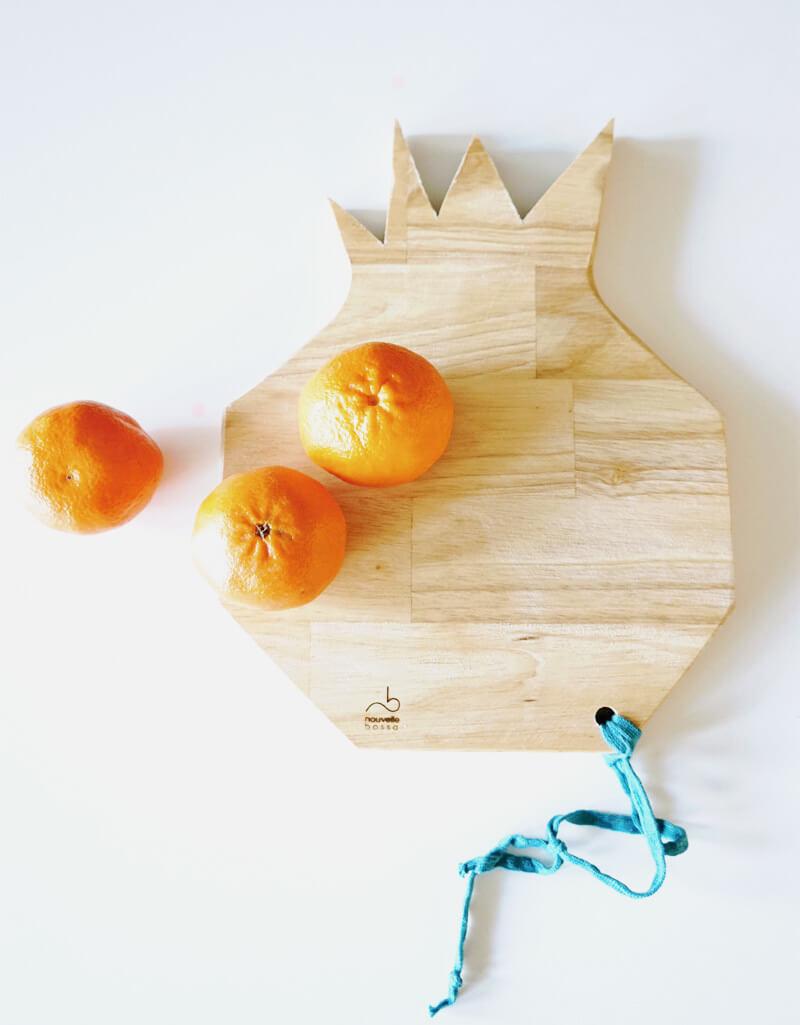 Planche à découper en forme d'ananas