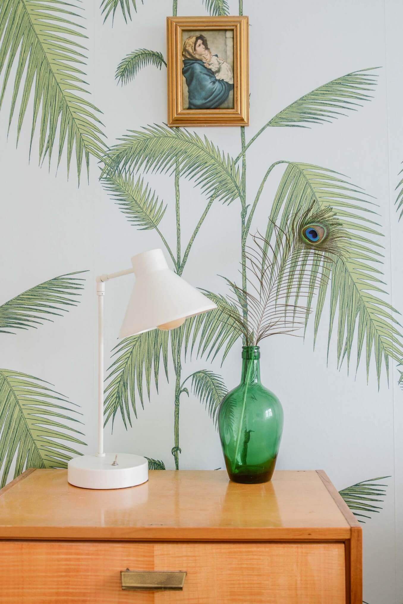 Papier peint motif palmiers