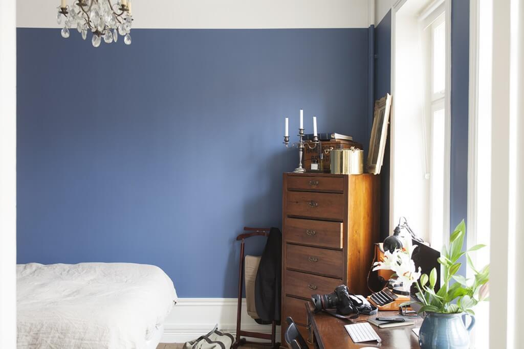 Mur blanc dans la chambre