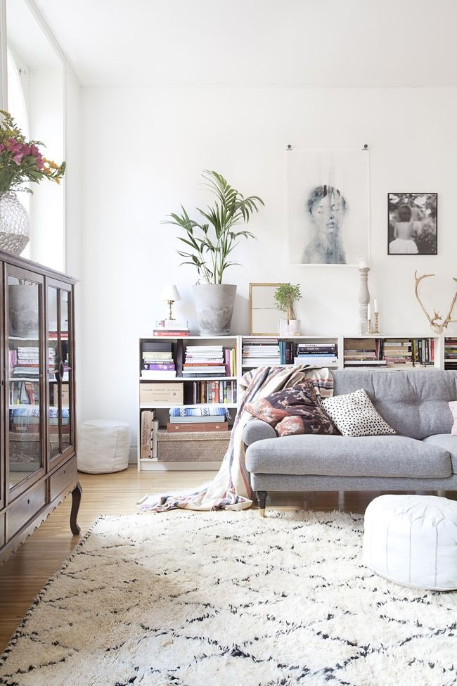 Tendance tapis berbère dans un salon