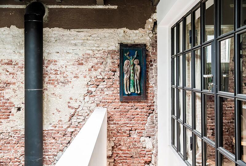 Mur en brique vintage