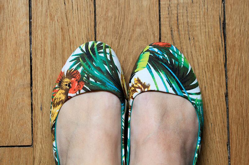 Ballerine motif tropical