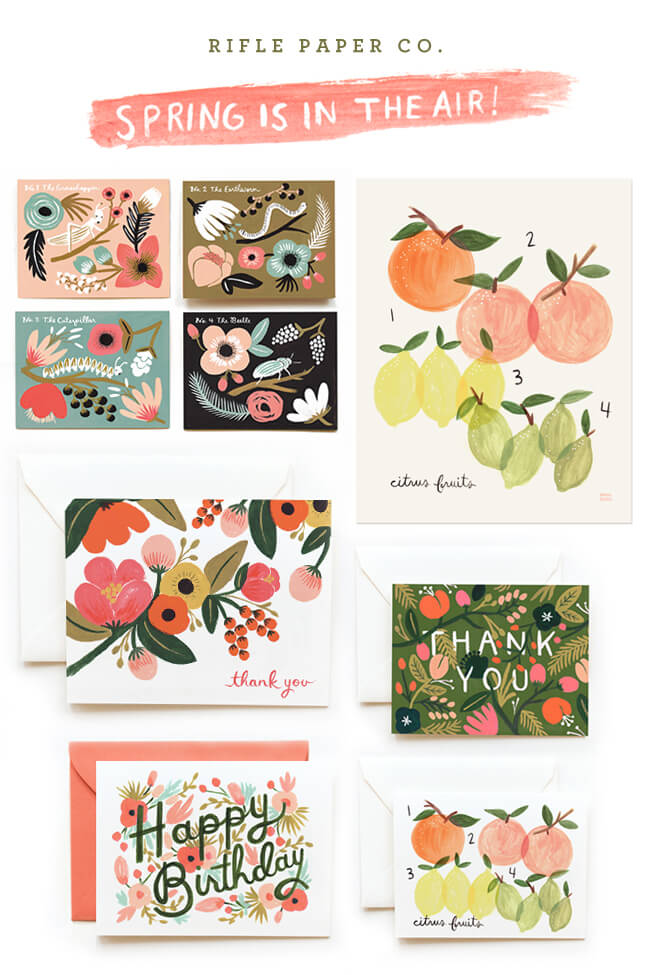 In love with : la papeterie Rifle paper Co. ♥