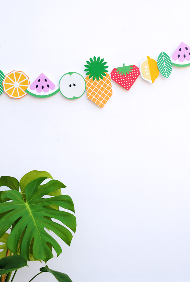 DIY guirlande de fruits en papier