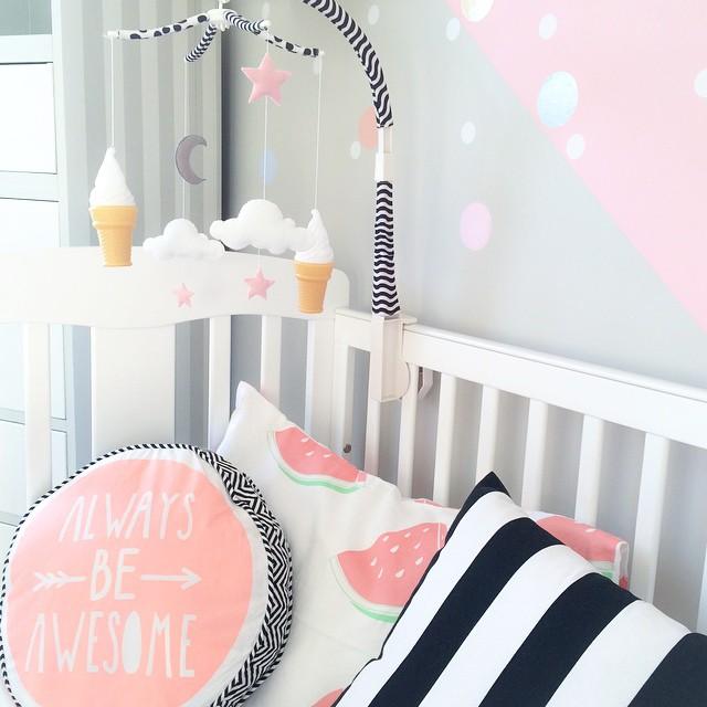 Inspiration : chambre de bébé dans les tons pastel