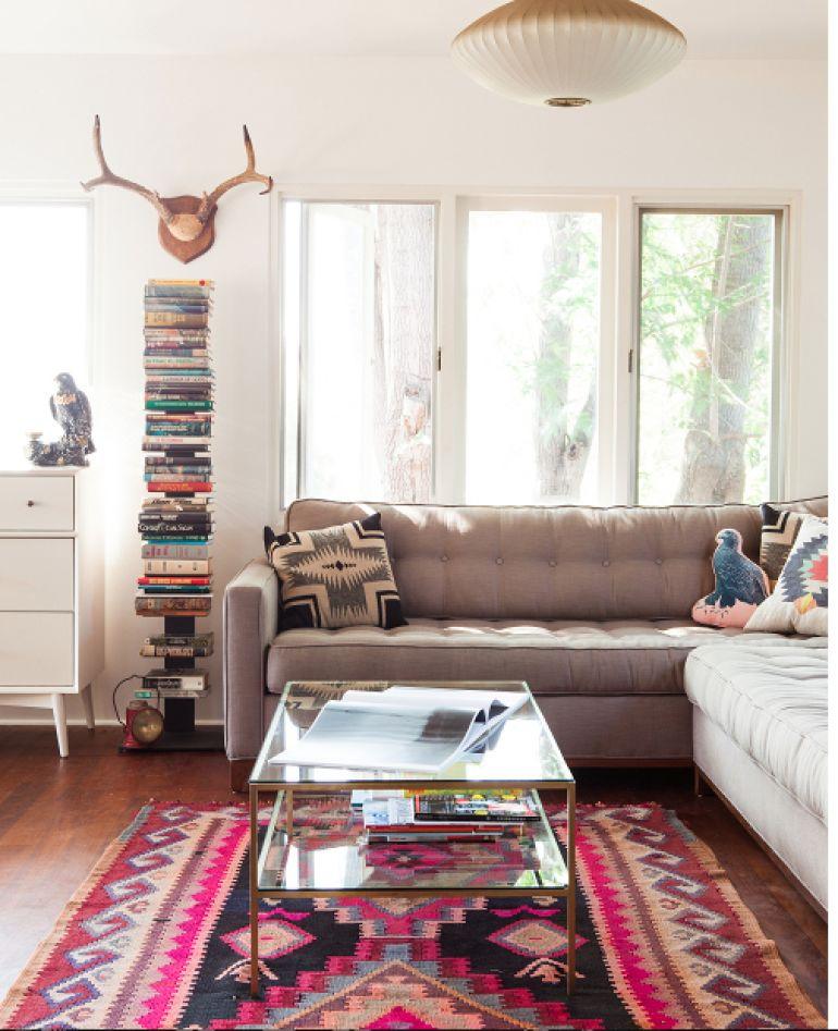 Décoration d'un avec un tapis kilim