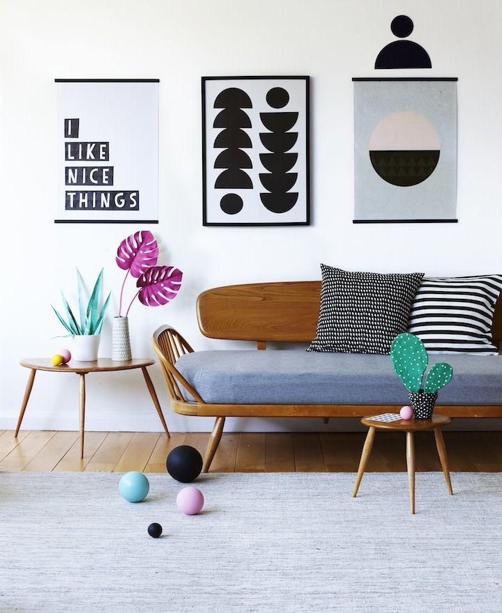 Sélection d'affiches scandinave pour le salon