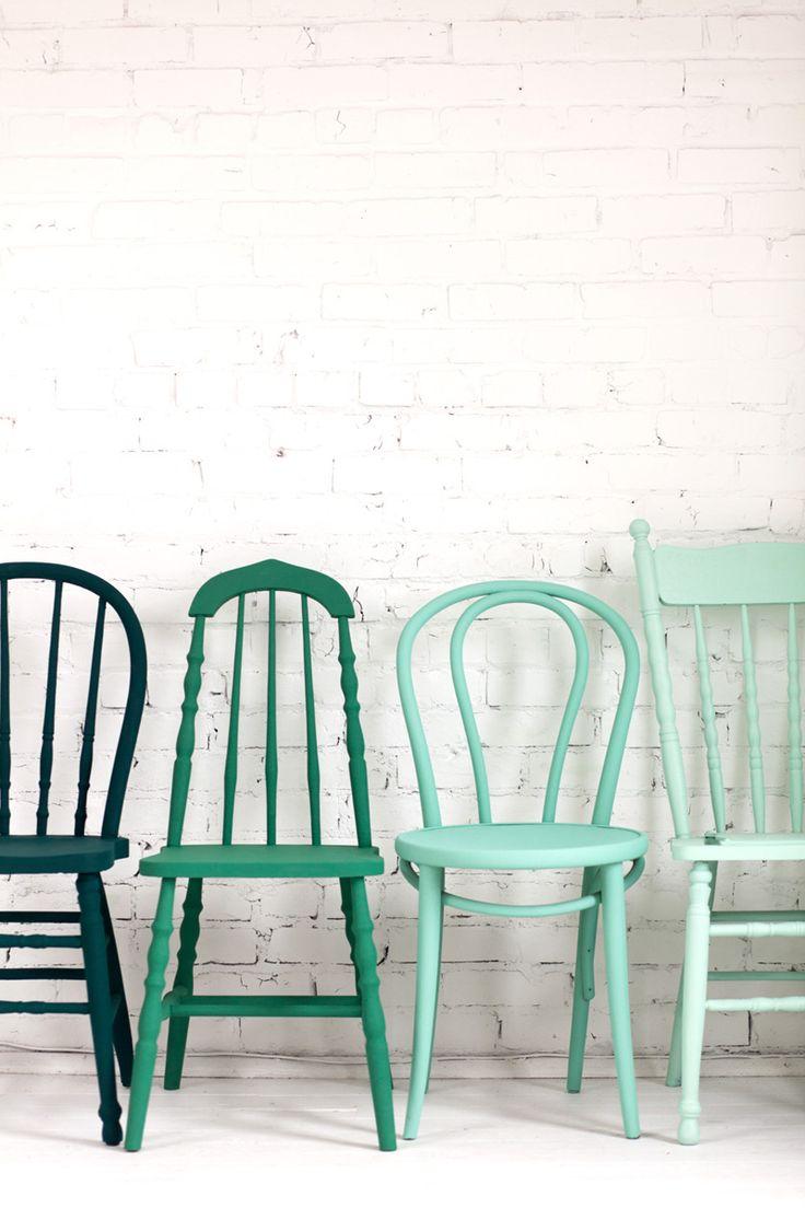 Repeindre des chaises vintage