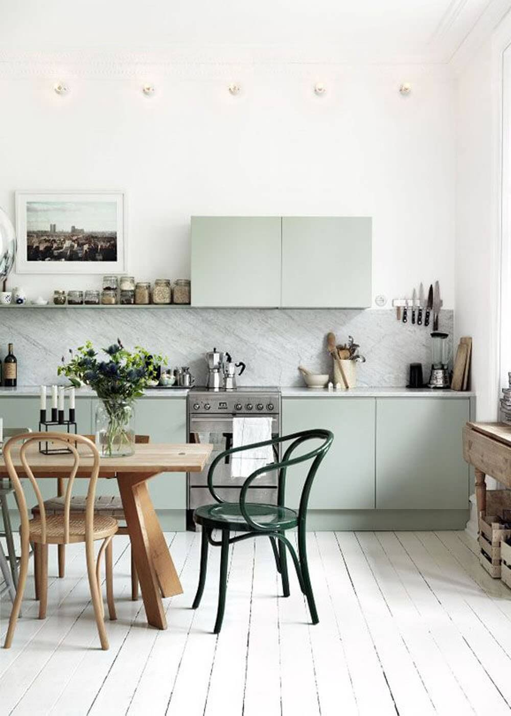 inspiration du mint dans la cuisine frenchy fancy. Black Bedroom Furniture Sets. Home Design Ideas