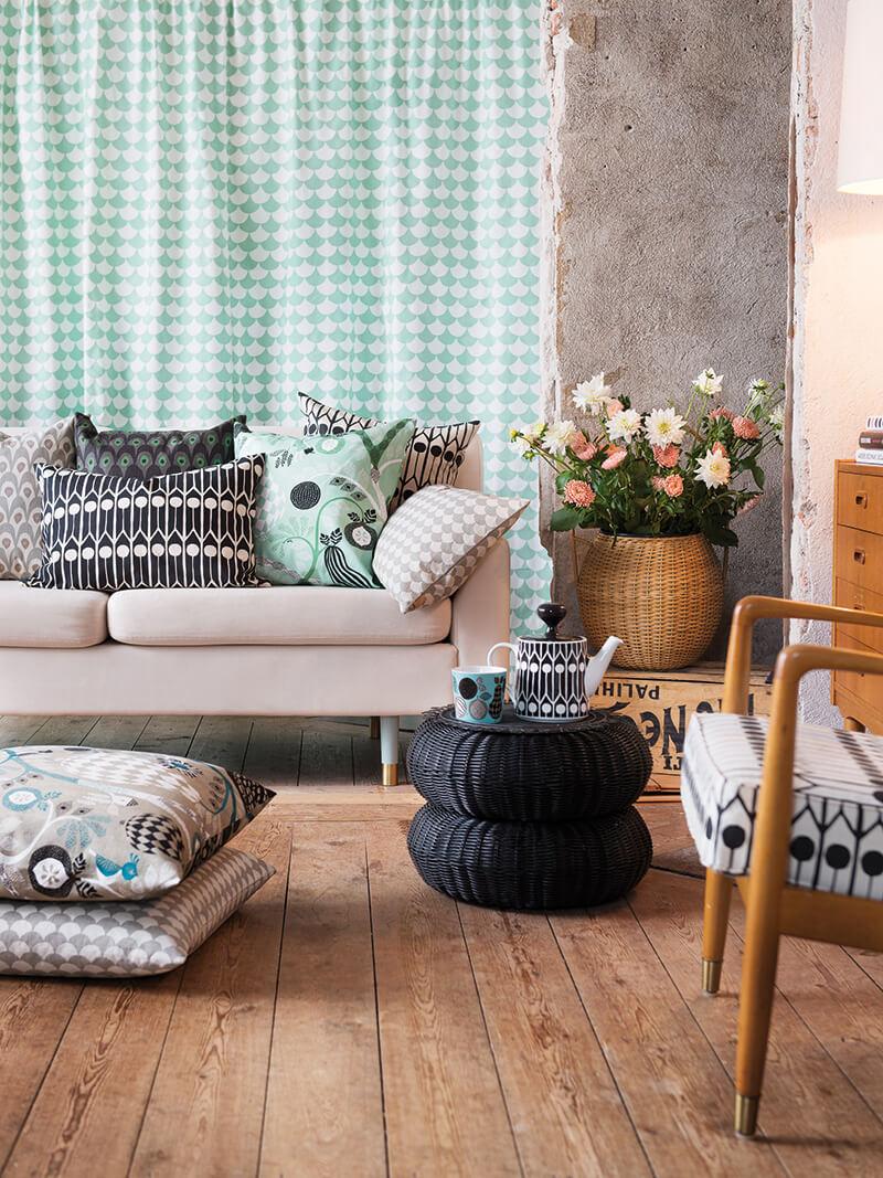 Textile coloré pour la maison chez Bemz