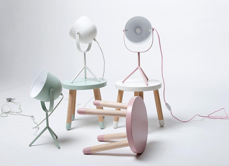 Lampe Monty couleur mint par Flexa