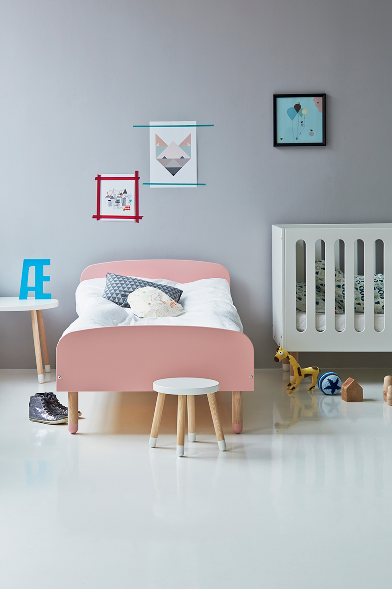 Chambre fille lit double - Lit enfant cocktail scandinave ...