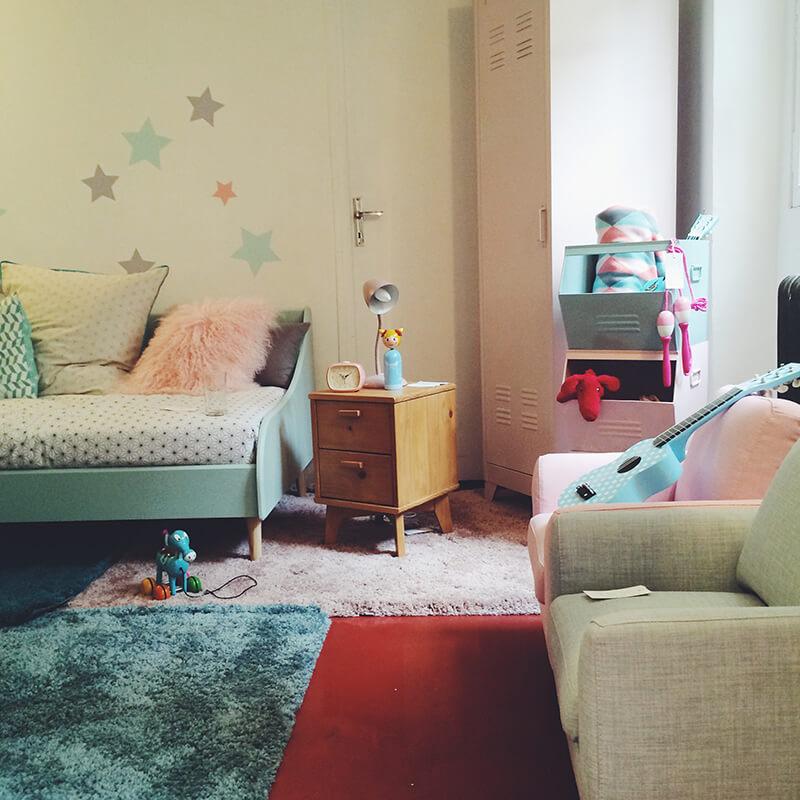 Chambre d'enfant style vintage