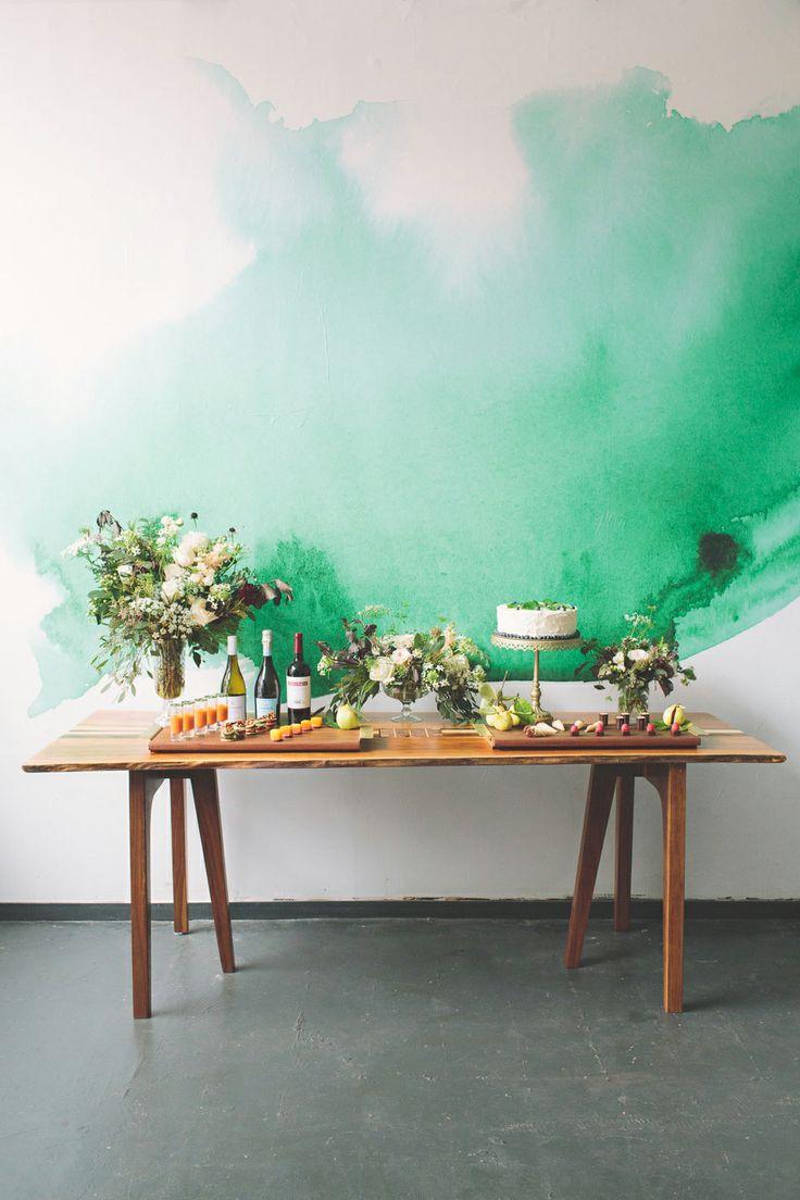 Peinture mur vert