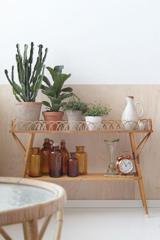 Tendance : le mobilier en rotin et les cactus